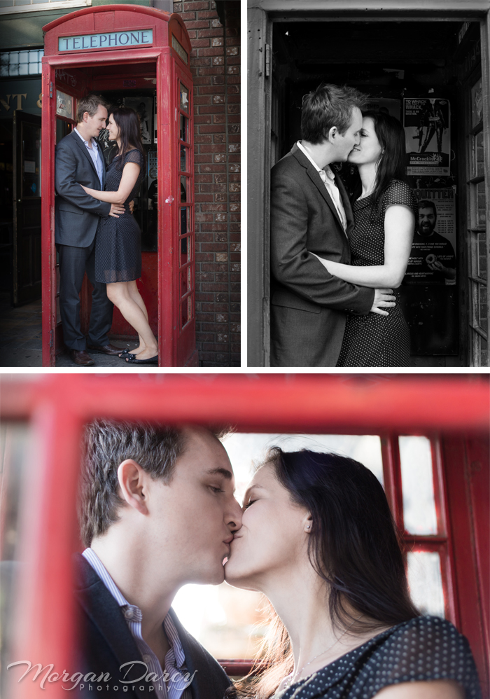 Edmonton Wedding Photographer photography photographers morgan darcy photography Whyte Ave Engagement portrait session phone booth