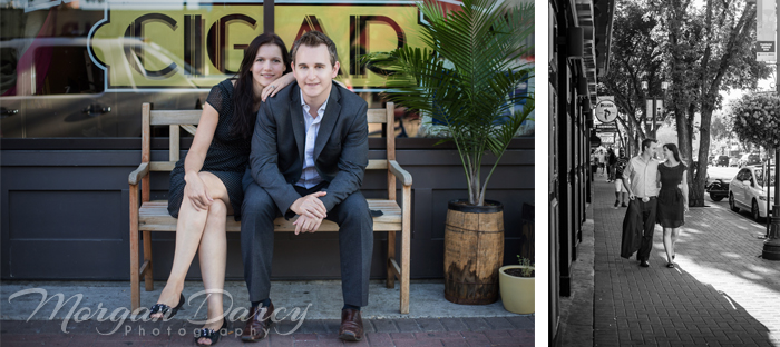 Edmonton Wedding Photographer photography photographers morgan darcy photography Whyte Ave Engagement portrait session park bench