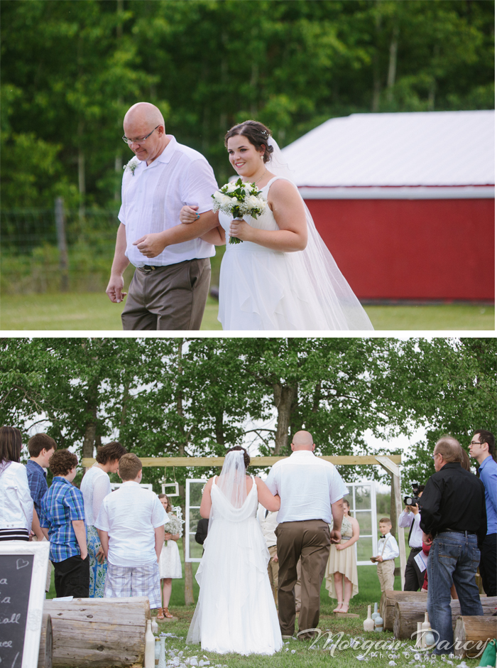 Alberta Wedding Photographer photography photographers romanian wedding farm wedding processional father of the bride