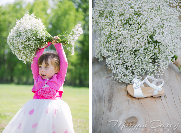 Alberta Wedding Photographer photography photographers romanian wedding farm wedding ceremony vintage frames birdcage babies breath flower girl