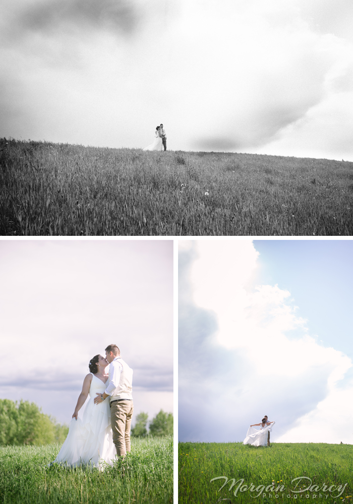 Alberta Wedding Photographer photography photographers romanian wedding farm wedding bride groom portraits hill big sky kiss