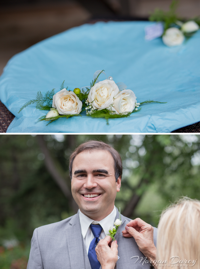 Edmonton wedding photographer photography photographers morgan darcy photography groom boutoniere garden portraits