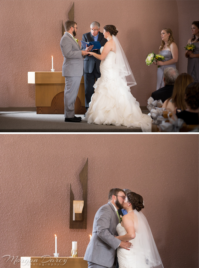 edmonton wedding photographer photography photographers ceremony church first kiss morgan darcy photography