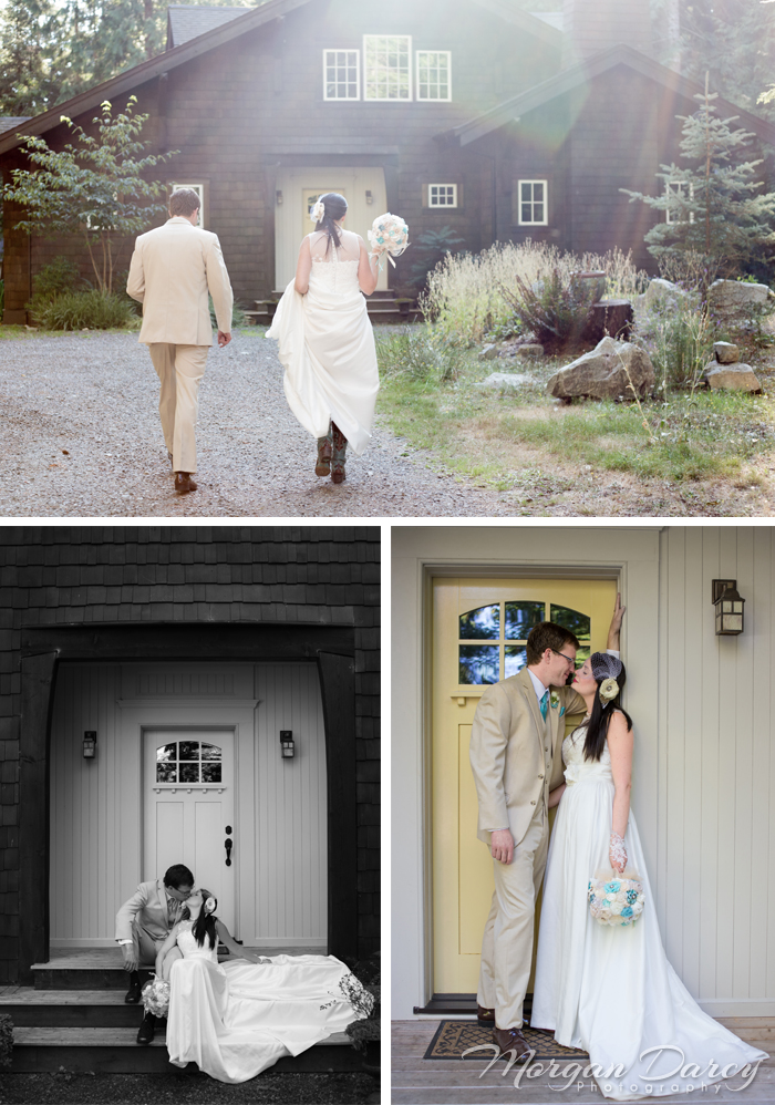 Vancouver wedding photographer photographers photography bowen island forest woodland chic bride groom portraits
