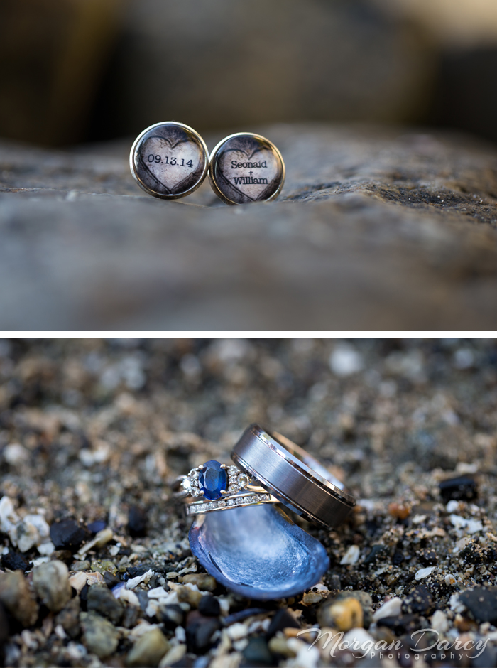Vancouver wedding photographer photographers photography bowen island forest woodland chic bride groom portraits bowen bay beach forest custom cufflinks ringshot