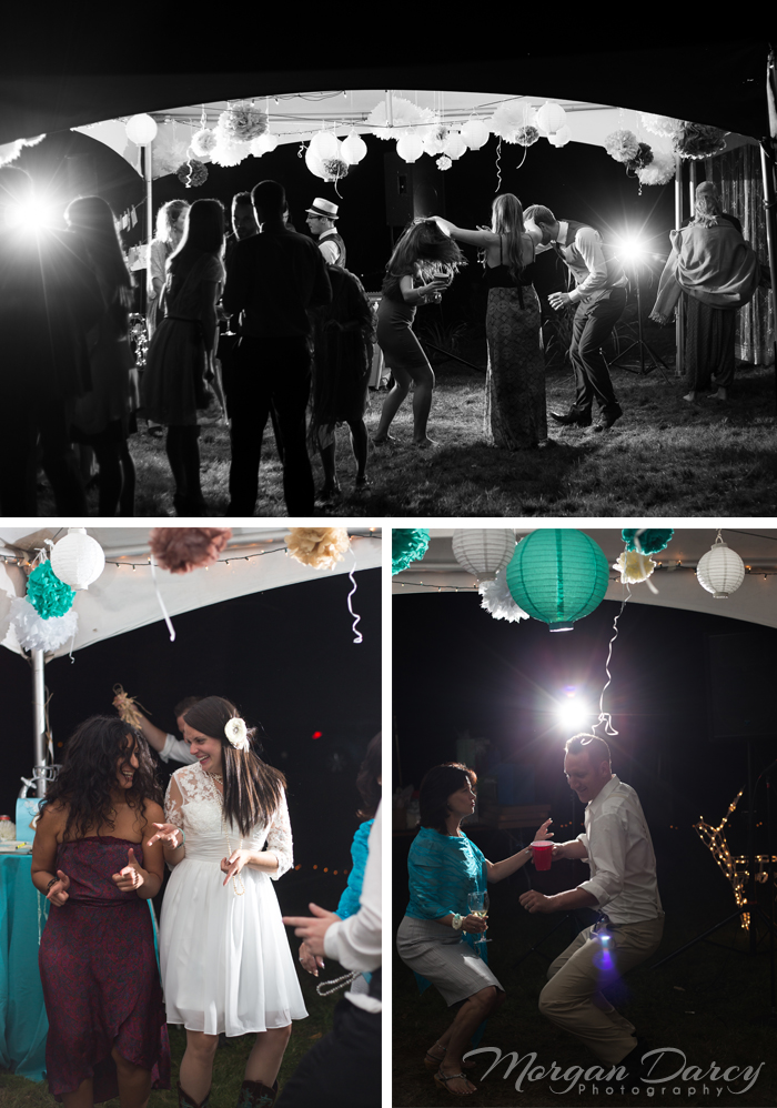 Vancouver wedding photographer photographers photography bowen island forest woodland chic reception lighting